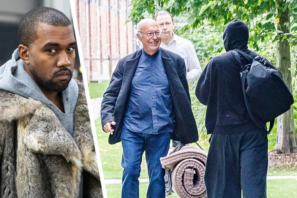 We vangen aan de Kanaalsite een glimp op van Axel Vervoordt met een man met een capuchon. Dat moet zijn 'goede vriend' Kanye West zijn, toch?