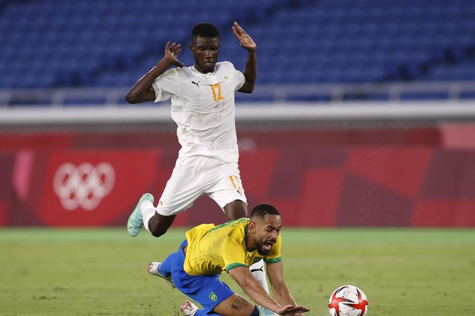 Kouassi tijdens de vorige match tegen Brazilië.