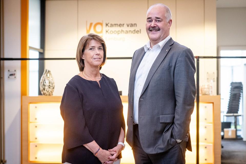 Voorzitter Karin Van De Velde en CEO Johann Leten van Voka Limburg.
