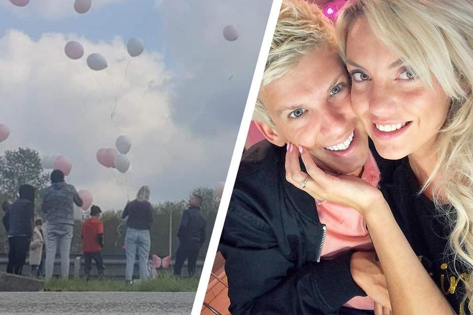 Op de plek van het ongeval lieten zaterdag tien fans ballonnen op ter ere van Kelly Scheppers (30).