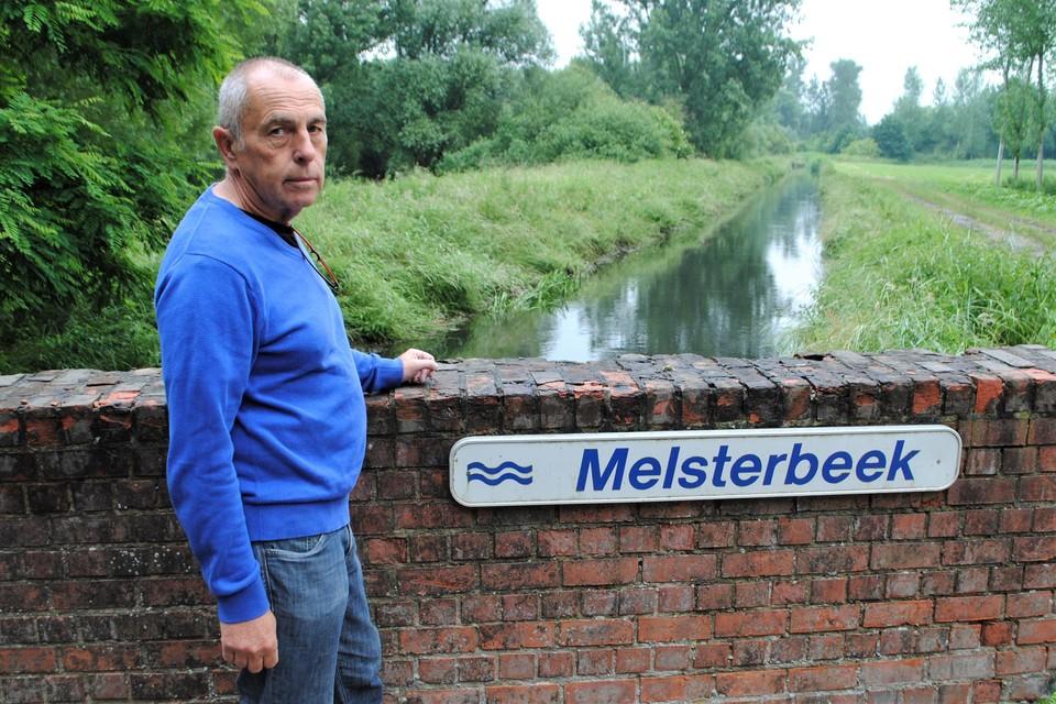 De Melsterbeek, één van de meetpunten in Vlaanderen.