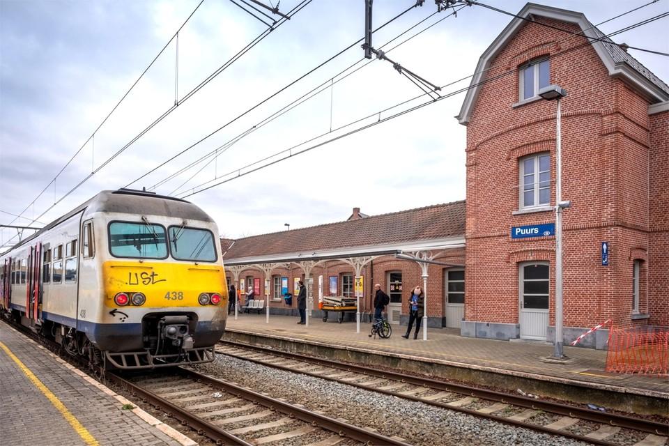 Het station van Puurs.