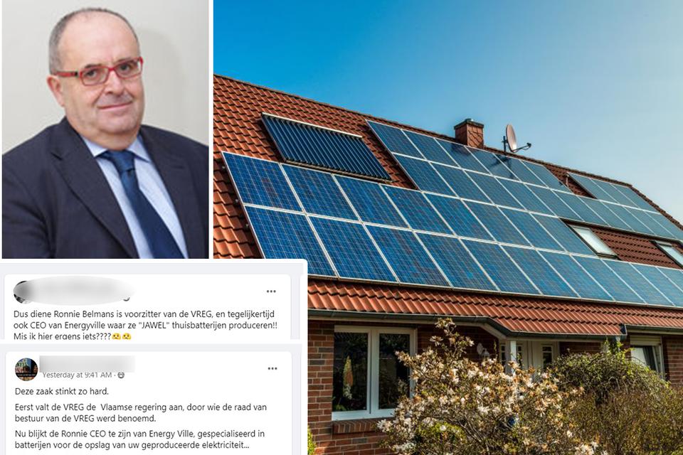 Professor Ronnie Belmans krijgt scheldmails van bezitters van zonnepanelen.