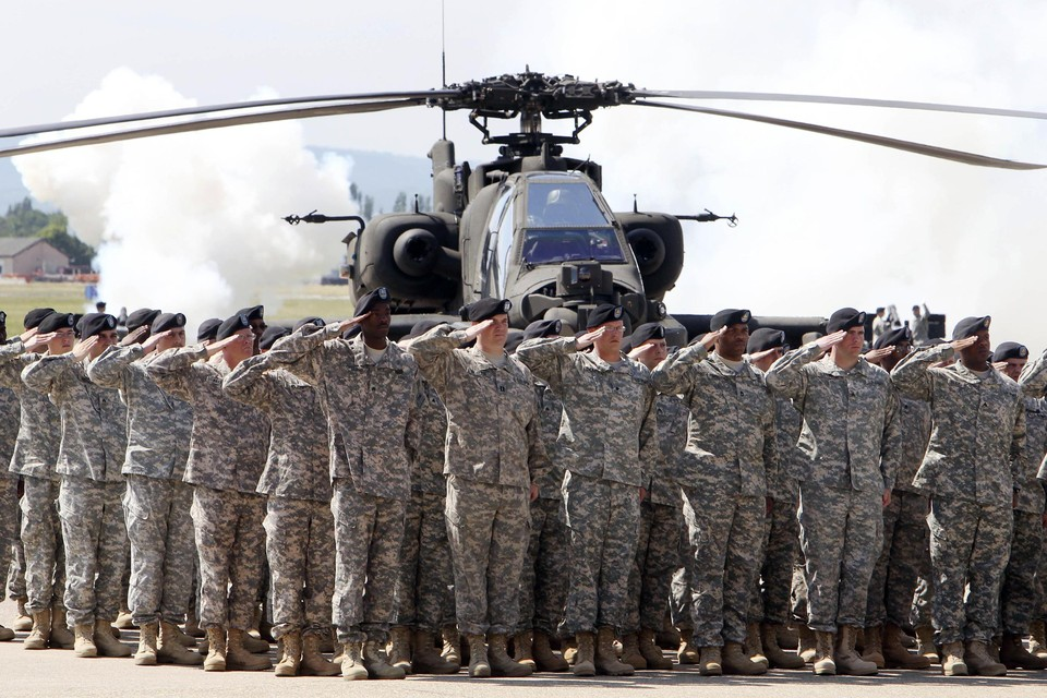 Archiefbeeld van Amerikaanse troepen in Duitsland.