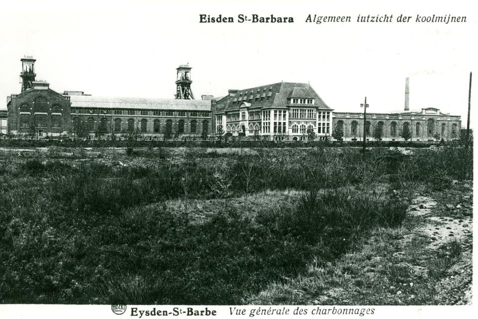 De mijn van Eisden begon met de opstart in 1907, in 1911 koos men voor de huidige locatie van de mijngebouwen.