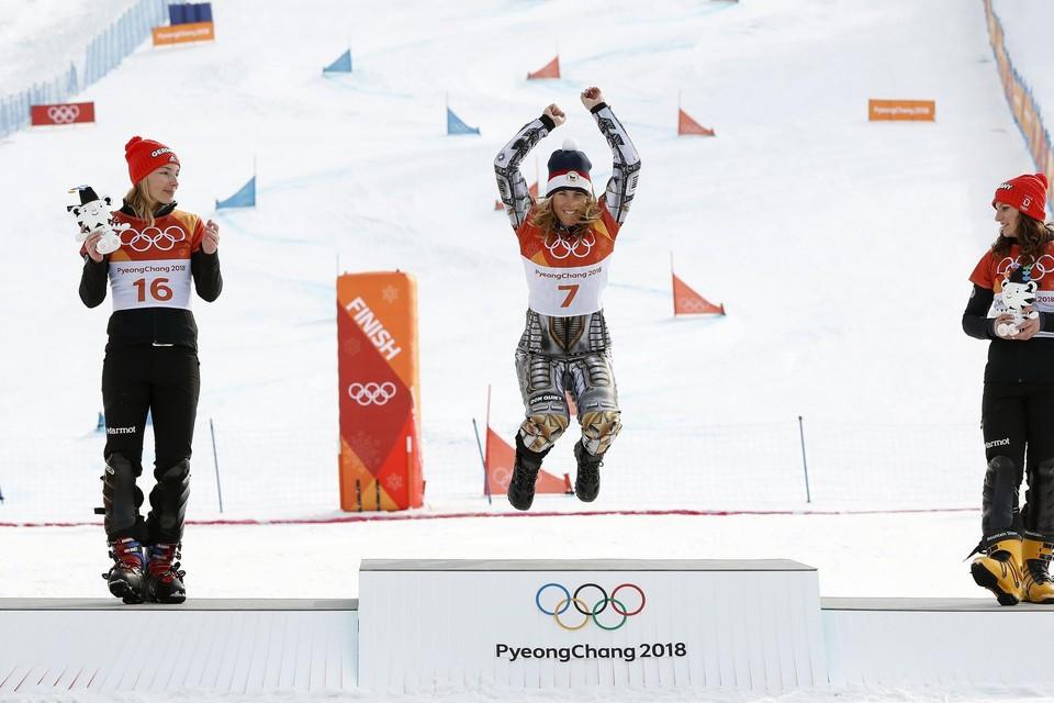 Selina Joerg (links) pakte zilver op de laatste Olympische Winterspelen.
