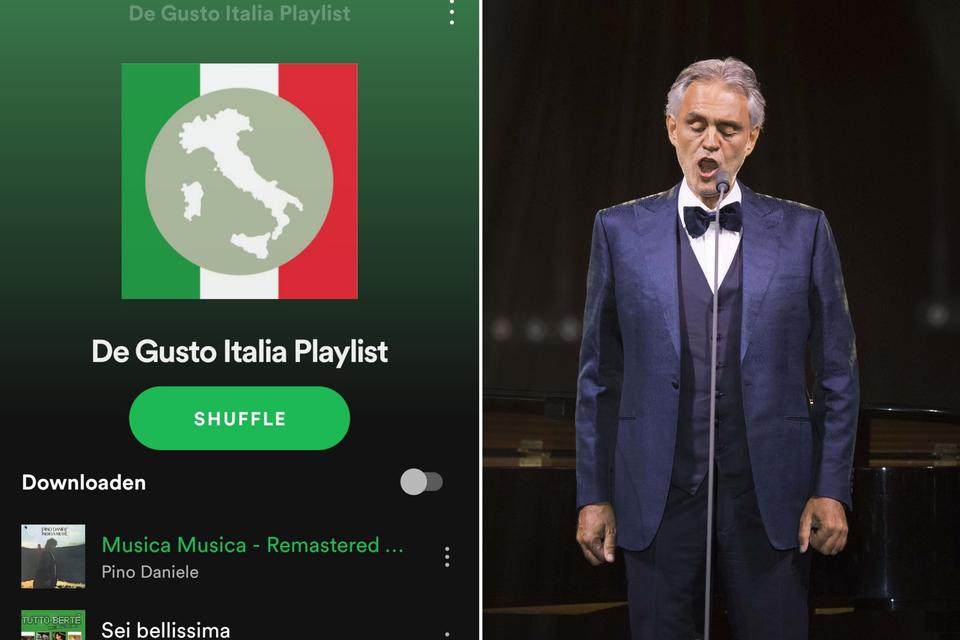 Andrea Bocelli mocht uiteraard niet ontbreken in onze Gusto Italia-playlist.