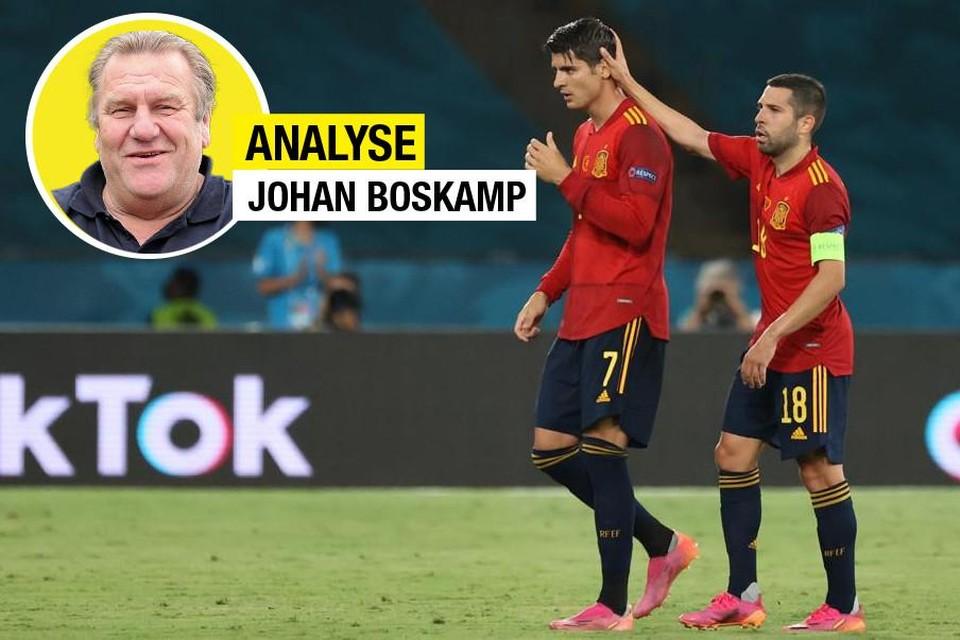 """""""Morata zit met zichzelf in de knoop"""", aldus Johan Boskamp."""