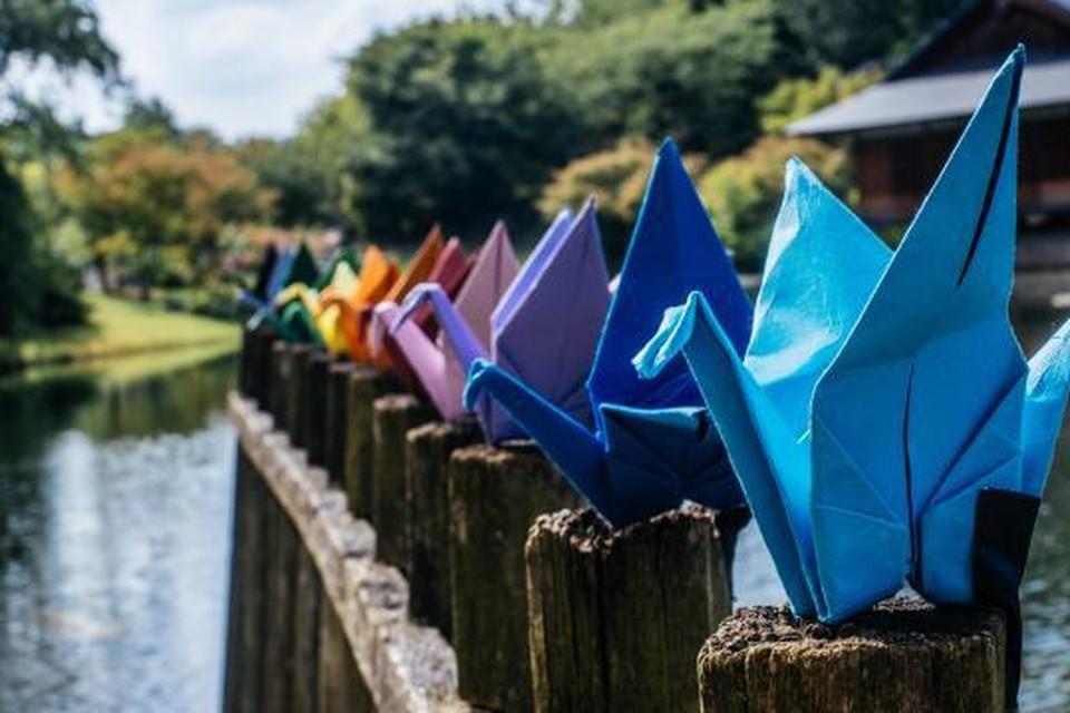 'Origami voor de vrede' in de Japanse Tuin