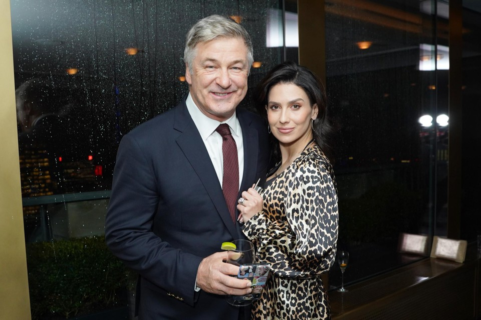Hilaria Baldwin en echtgenoot Alec Baldwin in New York.