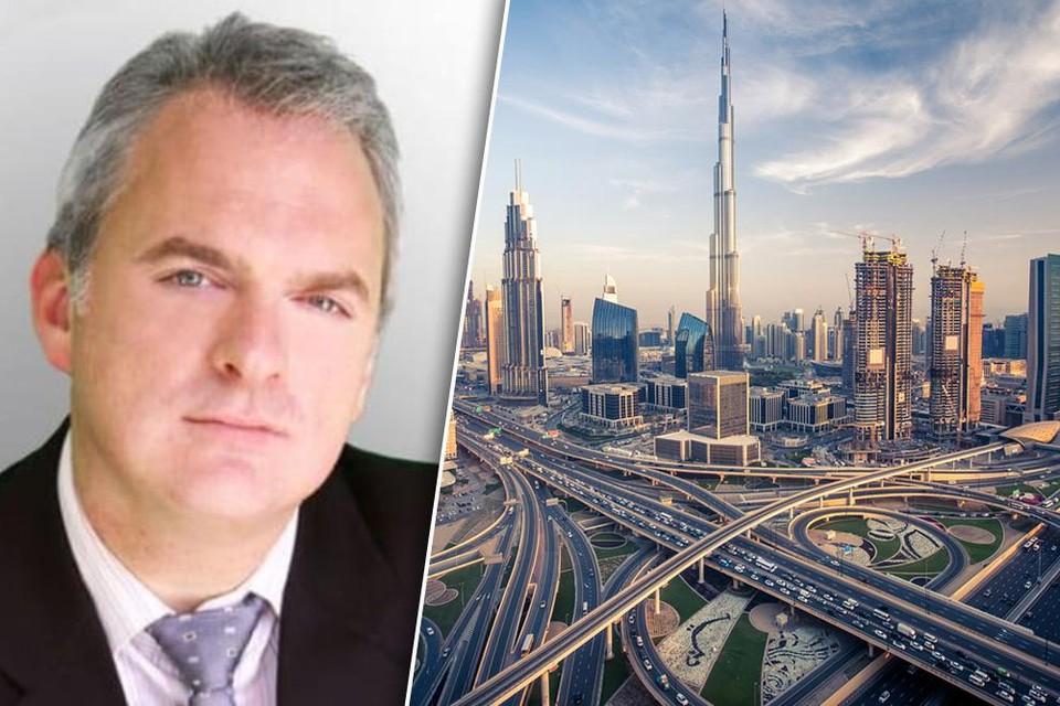 De Vlaams-Brabantse ondernemer Johan Daumerie (49), al tien maanden geblokkeerd in Dubai. shutterstock