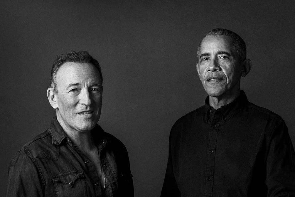 Bruce Springsteen en Barack Obama