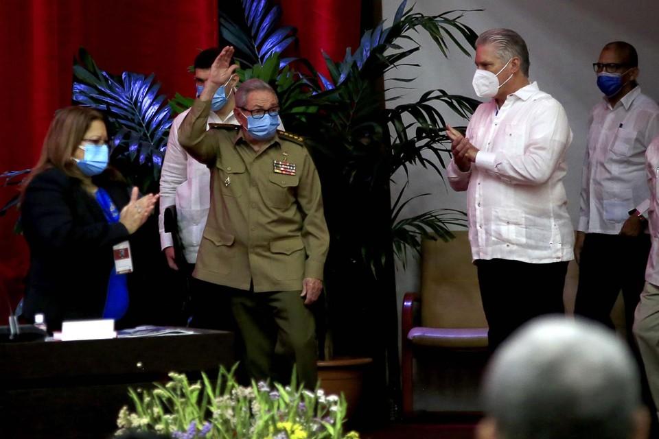 Raul Castro (centraal)