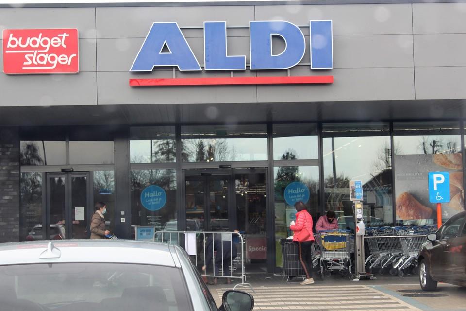 In de loop van de voormiddag kon de Aldi in Zonhoven weer open