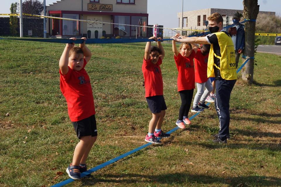 De sportdienst organiseerde vorige week voor de tweede keer een 'belevingsrun' voor alle leerlingen van de Heerse basisscholen.