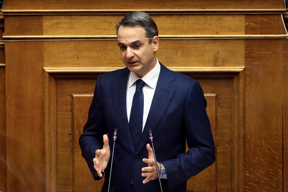 De Griekse premier Kyriakos Mitsotakis.