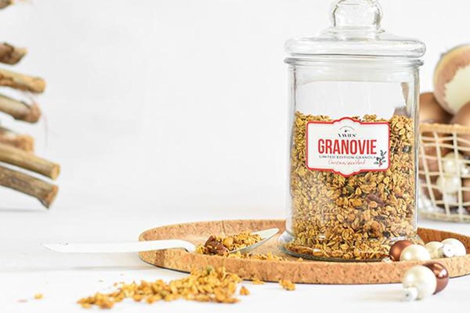 Kerstige granola - Xavies - 19 euro voor bokaal van 500 g