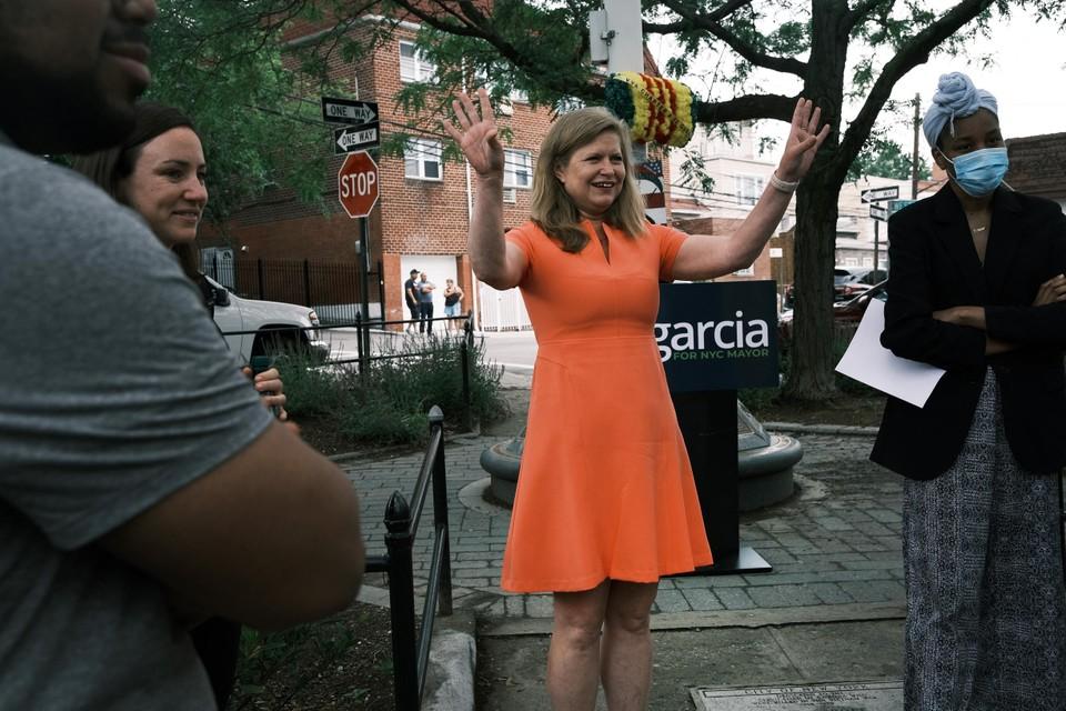 Kathryn Garcia geldt als een oerdegelijke beleidsvrouw met veel ervaring.
