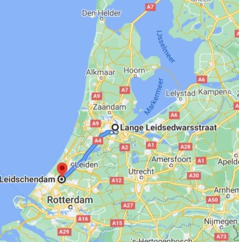 De verdachten werden dinsdag opgepakt 50 kilometer ten zuiden van Amsterdam. Ze reden in de richting van Rotterdam.