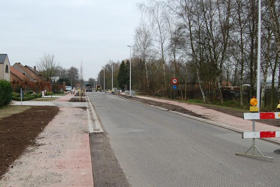 Archieffoto: aanleg fietspaden aan de Bokrijkseweg