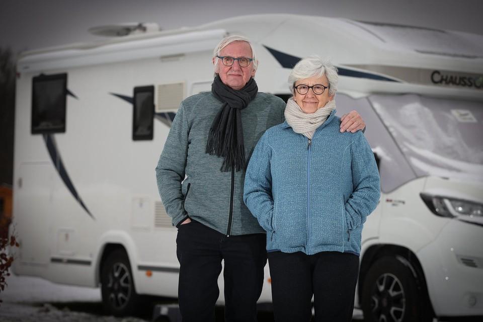 Paul en Julia reden zondagavond al met hun camper van Hamme naar recreatieoord Wilhelm Tell in Oudsbergen.