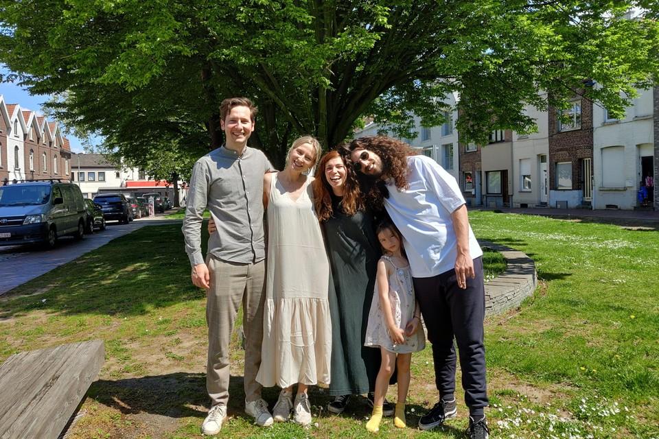 Marnik en Dorien op bezoek bij Jerina en Harry in Kortrijk.