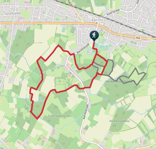 De rode lus door de Herkenrodebossen in Hasselt.