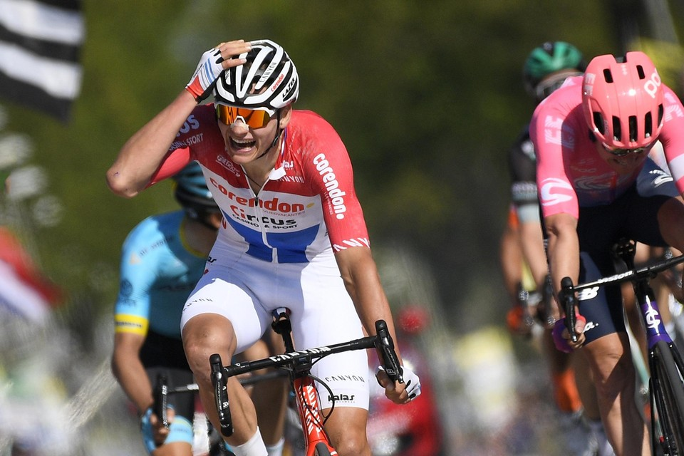 Vorig jaar won Mathieu Van der Poel de Amstel Gold Race.