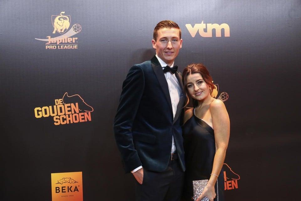 Tijdens het gala van de Gouden Schoen in 2019.