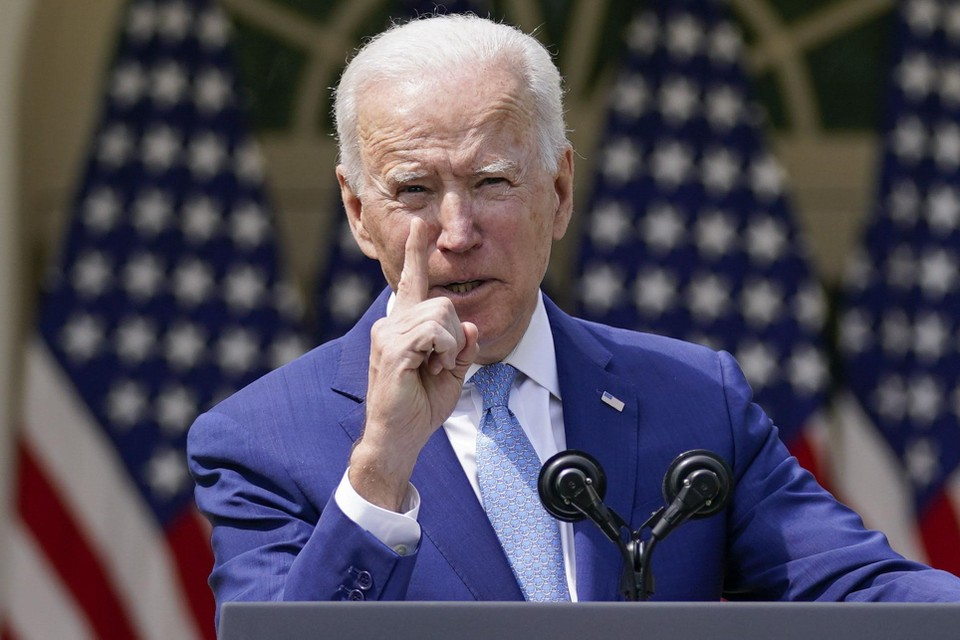 Biden tijdens zijn toespraak aan het Witte Huis.