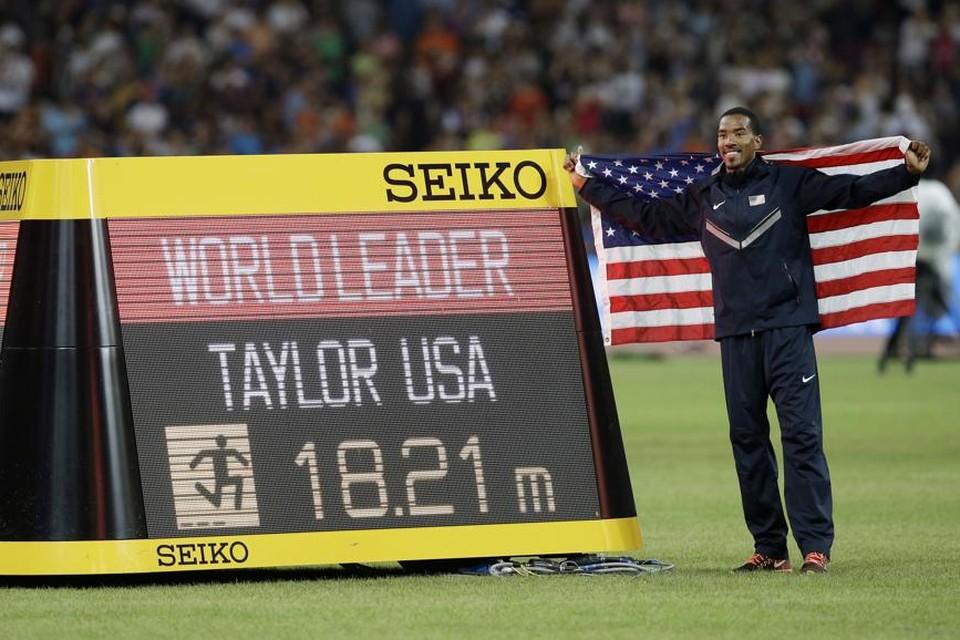 Christian Taylor pakte uit met een geweldige sprong