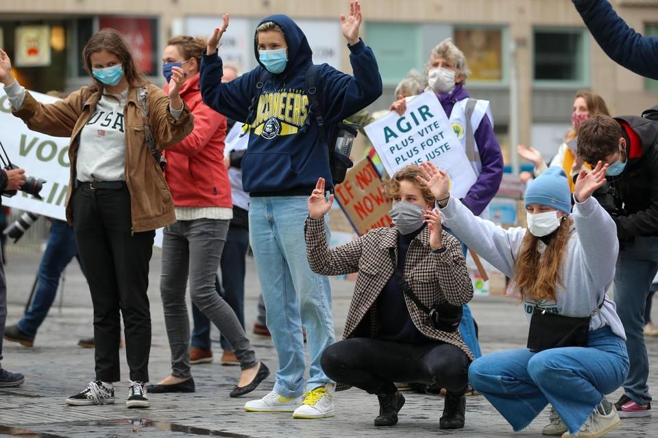 Een eerdere betoging van Youth For Climate op 25 september