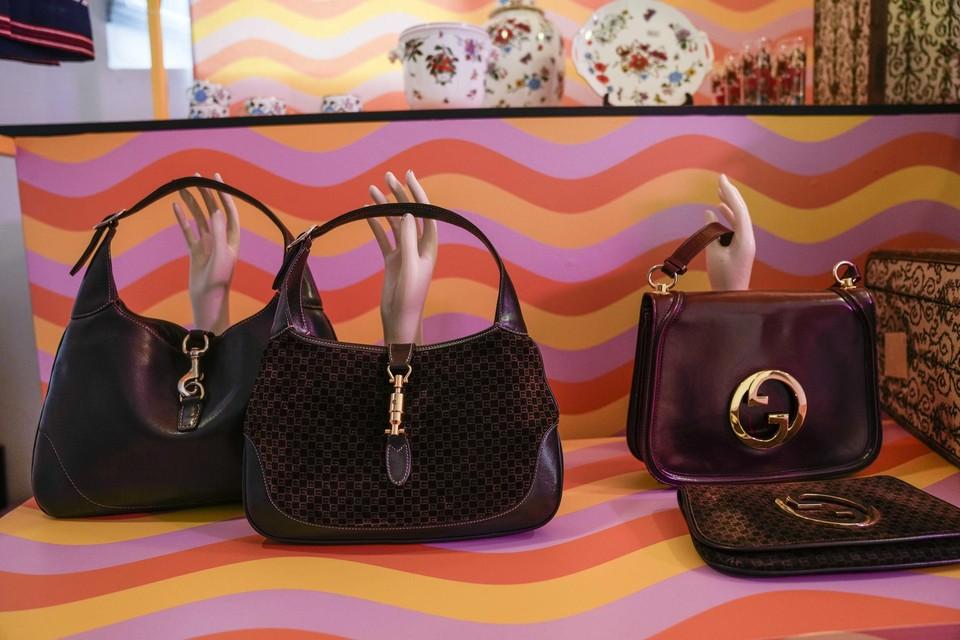 Vintage Gucci-handtassen.