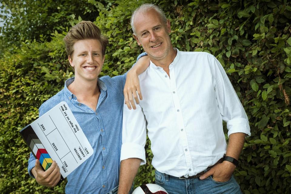 Frank Lemmens met zoon Lennart.