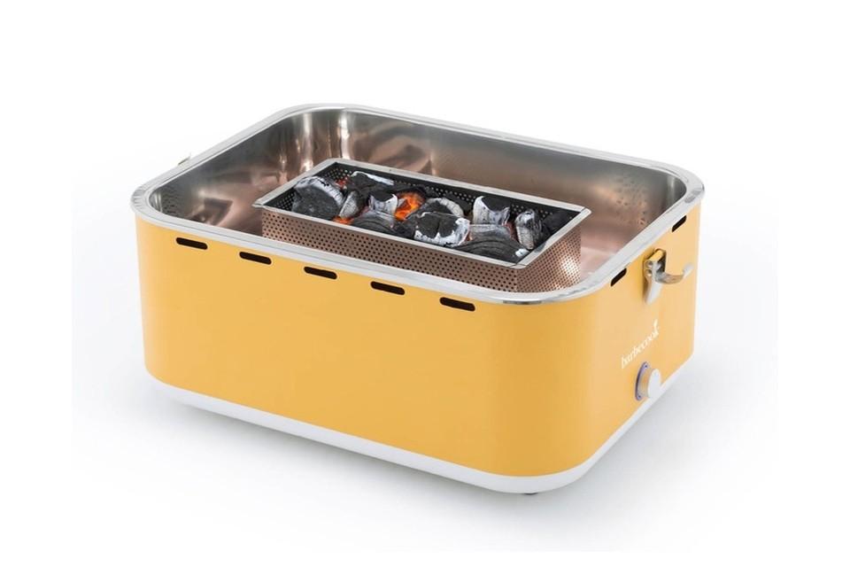 <P>Gele Carlo tafelbarbecue - Barbecook - 135 euro</P>