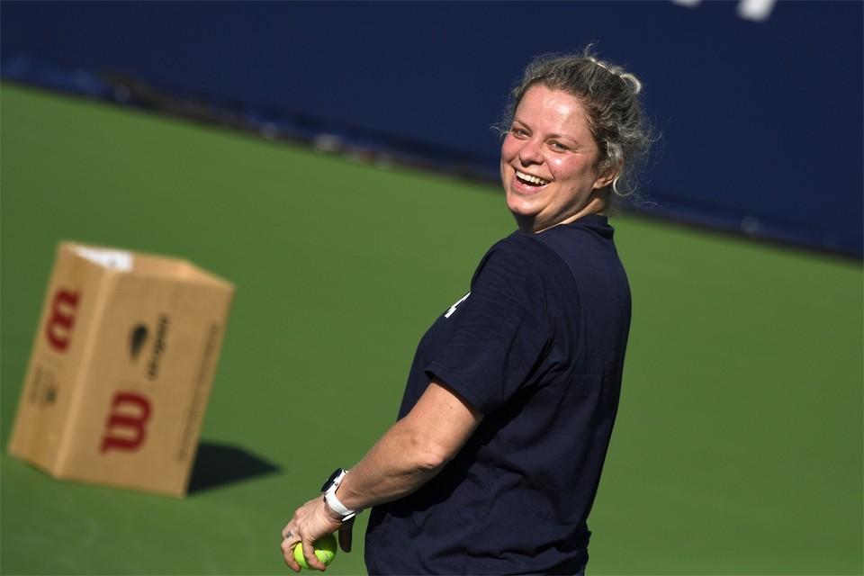 Kim Clijsters blijft positief in tijden van lockdown.