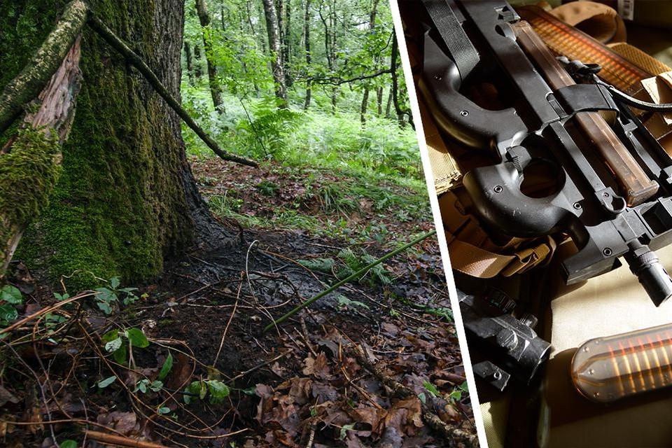 Op deze plek werd Jürgen Conings gevonden. De jager die hem vond, zou de P90 die bij het lichaam lag, iets verder hebben verstopt.