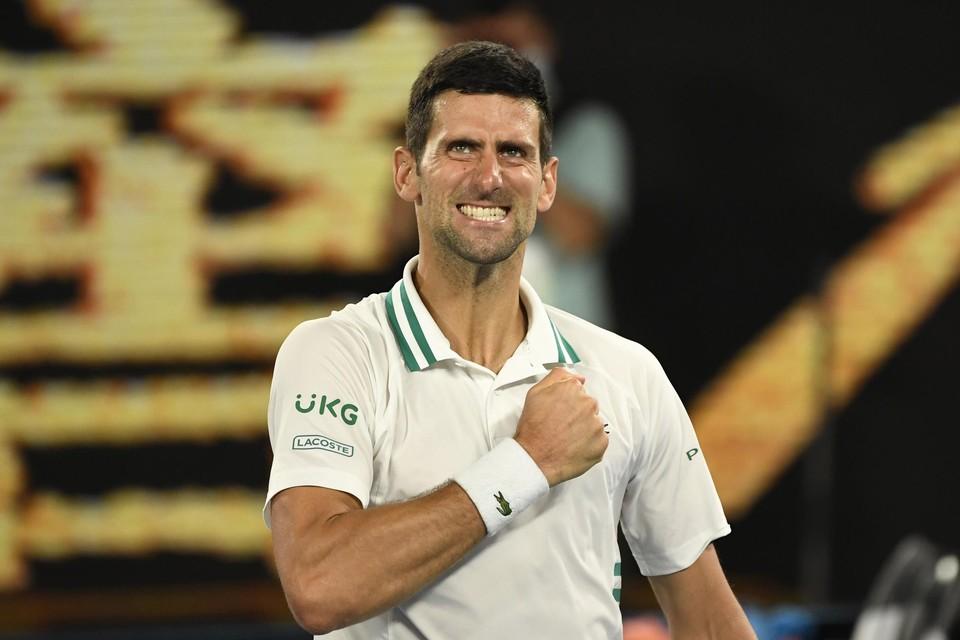 Djokovic was een maatje te groot voor Aslan Karatsev.