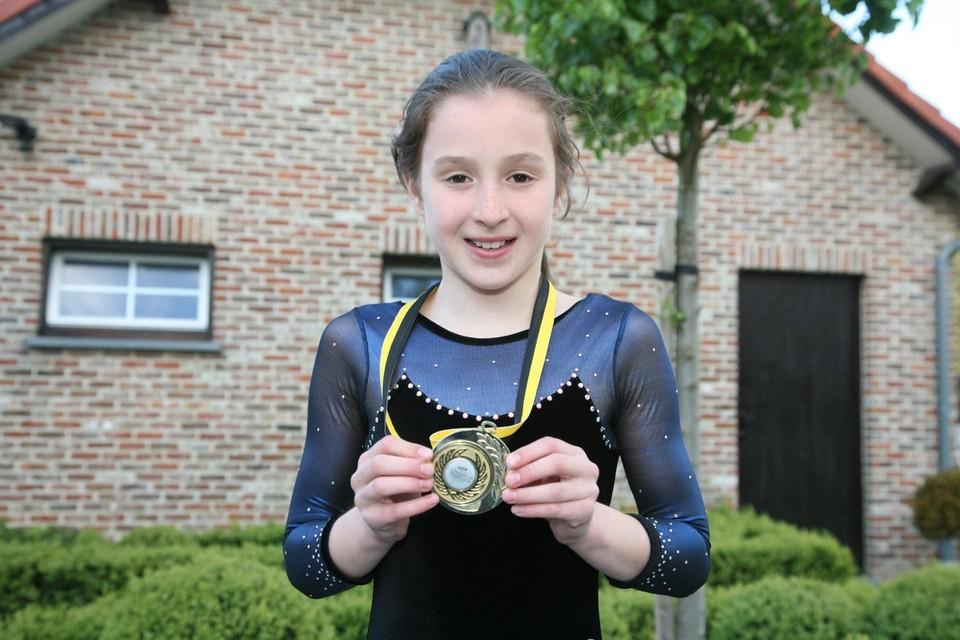 Op 26 mei 2010 stond een toen tienjarige Nina Derwael voor het eerst in onze sportkrant.