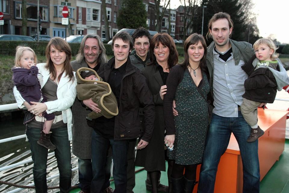 De familie Planckaert ten tijde van hun eerste realitysoap.