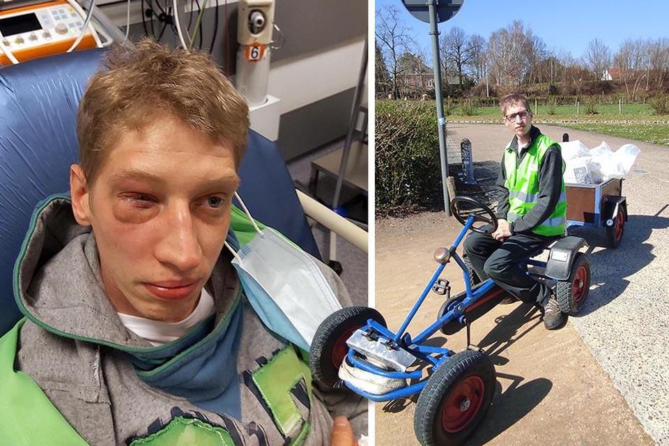 De 29-jarige Kevin die al een half jaar als vrijwilliger zwerfvuil opruimt in het Barrierspark werd aangevallen door een groepje jongeren.