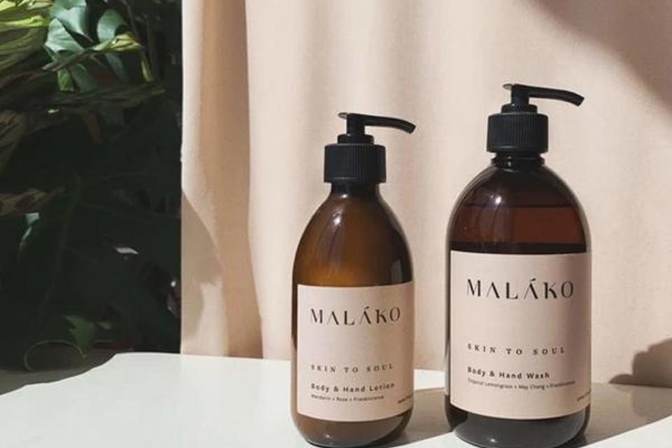Skin To Soul Kit met handzeep en lotion - Malako - 48 euro via clotilde.be
