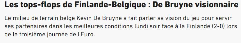 De Bruyne ziet volgens L'Equipe zaken die een ander niet ziet.