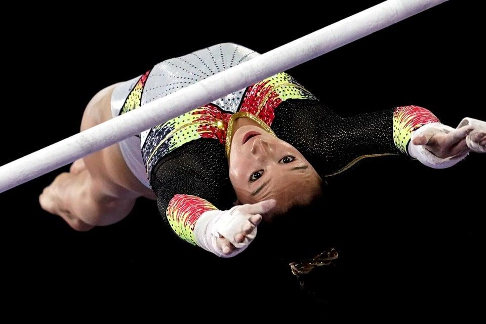 Nina Derwael post bewust geen beelden van haar oefening. Sommige concurrentes doen dat bewust wel.