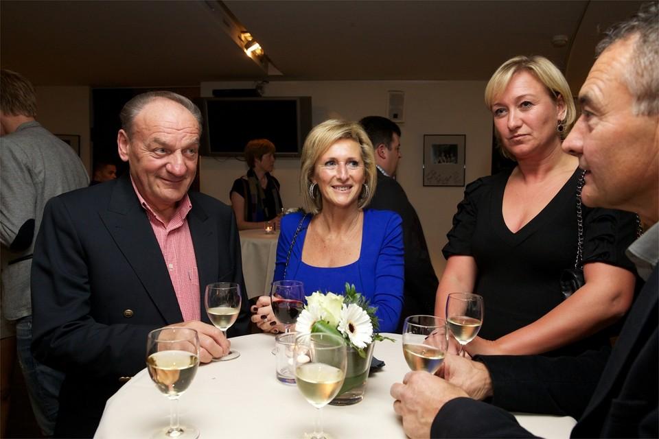 André Meganck (links) op het Gala van de Flandrien.