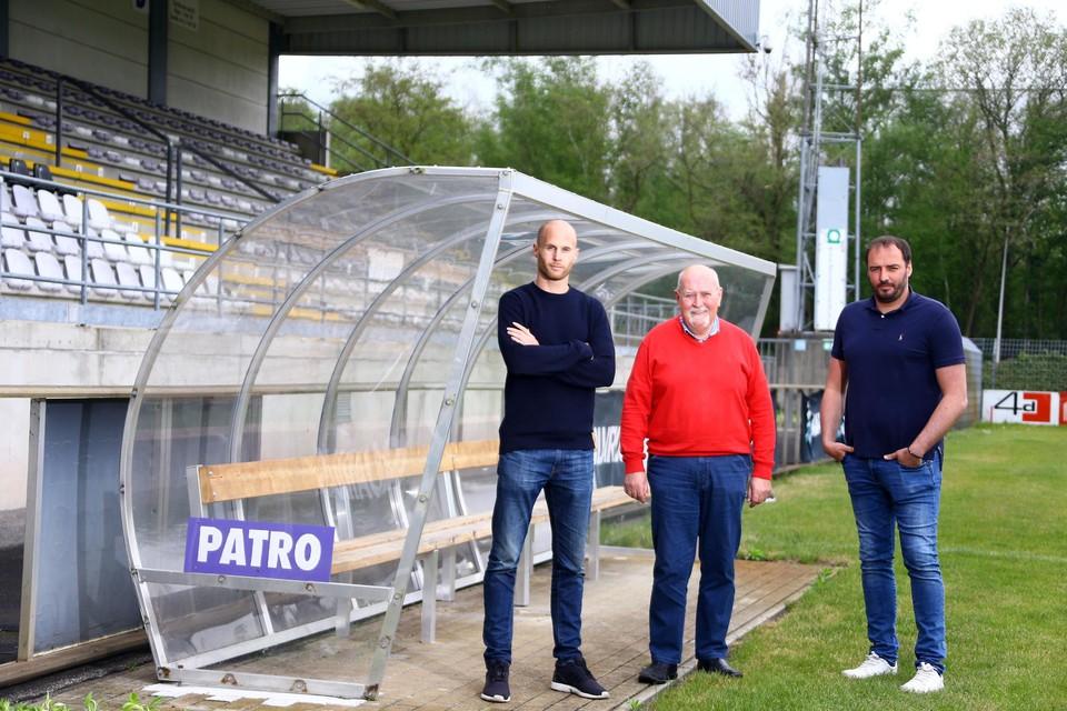 Wouter Corstjens, Rik Vliegen en Stijn Stijnen hebben Patro Eisden Maasmechelen overgenomen van de Britse voorzitter Derrick Devonport.