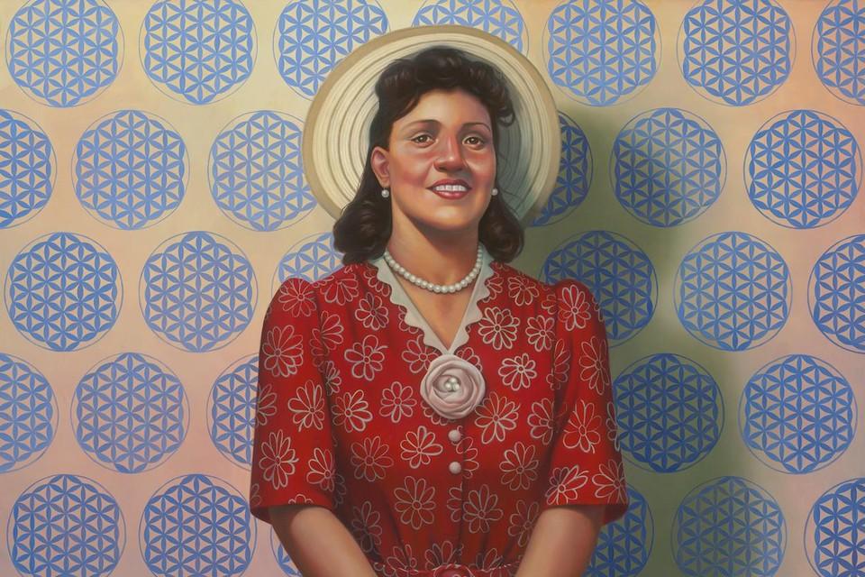 Kunstenaar Kadir Nelson maakte in 2017 een portret van Henrietta Lacks.
