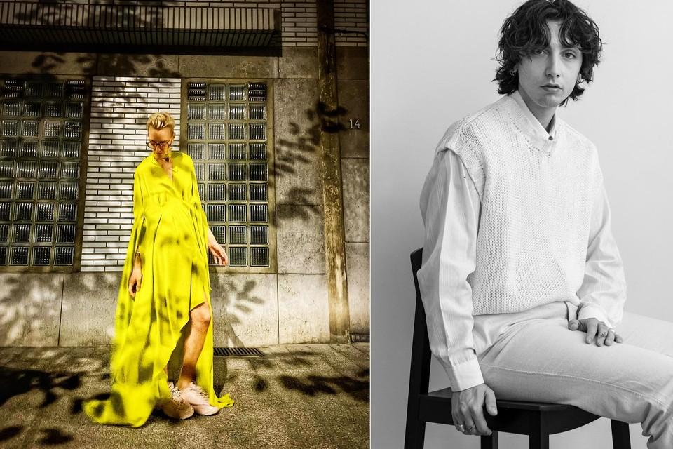 Hasselts topmodel Hannelore Knuts droeg op het openingsfeest van Het Antwerpse Modemuseum een opvallende creatie van Genkenaar Matteo La Rosa.