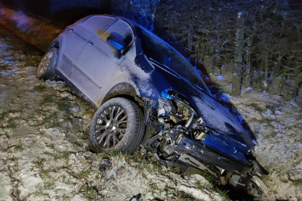 Op de Sint-Truidersteenweg in Borgloon schoof een auto in de gracht.