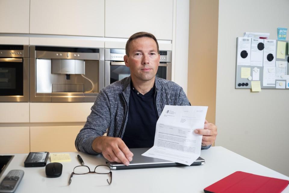 Omdat hij ervan uitging dat de fiscus zijn belastingbrief correct had ingevuld, verloor Raf Vanheusden 1.500 euro in drie jaar.